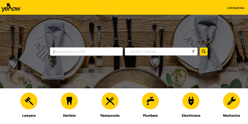 Yellow page is a great example for local business directory
